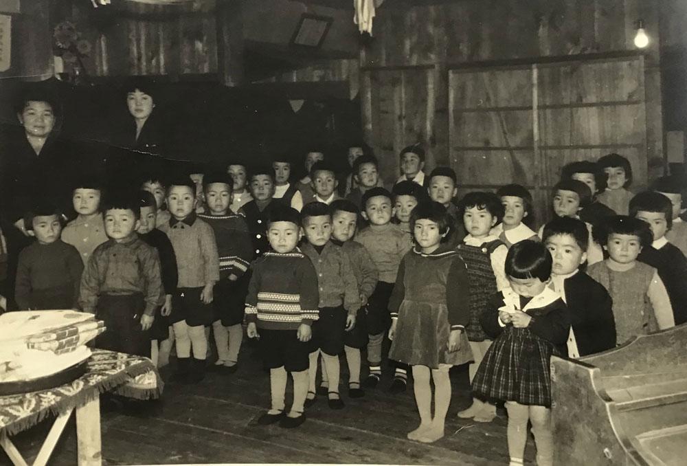 昭和28年 良興寺での保育所開所式